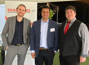 Dean Corcoran of Microsoft with Robert Buck, Managing Director of DIT, and David Williams of BMT Tax Depreciation