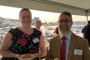 Elyssa Kingston-Brown of Healey Associates with Glen Cousins of the Anglican Diocese of Newcastle