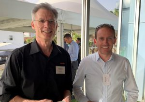 Geoff Moten, Software Development Manager of DIT, with Brad Lacey of ARTC