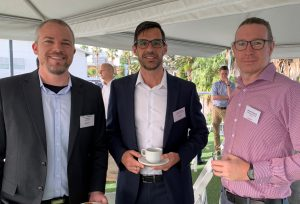 Glendin Franklin-Browne of DIT with Jason Murphey of UoN, and Michael Edwards of Reflections Holiday Parks